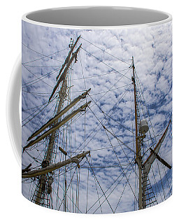 Coffee Mug featuring the photograph Tall Ship Mast by Dale Powell
