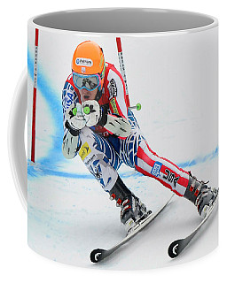 Ted Ligety Skiing  Coffee Mug