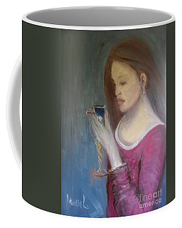 Coffee Mug featuring the painting The Chalice by Laurie Lundquist