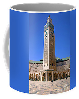 Coffee Mug featuring the photograph The Hassan II Mosque Grand Mosque With The Worlds Tallest 210m Minaret Sour Jdid Casablanca Morocco by Ralph A  Ledergerber-Photography