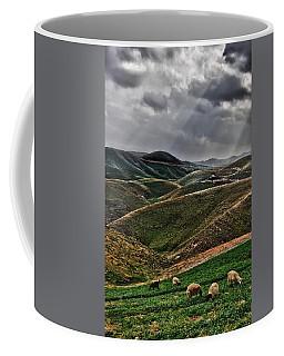 The Lord Is My Shepherd Judean Hills Israel Coffee Mug