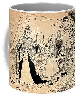 Coffee Mug featuring the drawing The Palace Balcony by Reynold Jay