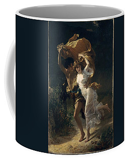 Coffee Mug featuring the painting The Storm by Pierre Auguste Cot