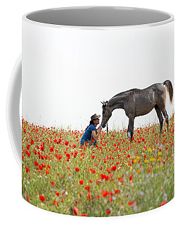 Three At The Poppies' Field... 4 Coffee Mug by Dubi Roman