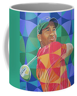 Coffee Mug featuring the drawing Tiger Woods by Joshua Morton