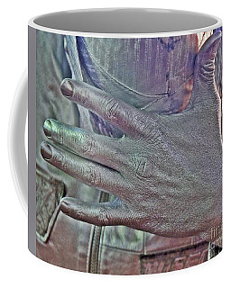 Coffee Mug featuring the photograph Tin Man Hand by Lilliana Mendez