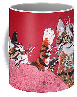 Coffee Mug featuring the pastel 2 Tora's by Phyllis Kaltenbach