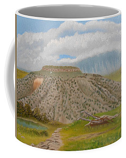 Tucumcari Mountain Reflections On Route 66 Coffee Mug