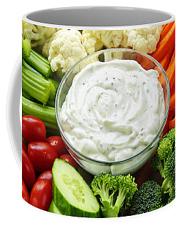 Vegetables And Dip Coffee Mug