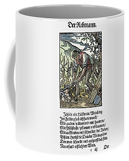 Coffee Mug featuring the painting Vinegrower, 1568 by Granger