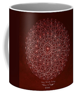 Coffee Mug featuring the drawing Wave Particle Duality by Jason Padgett