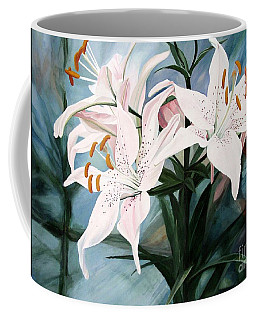 White Lilies Coffee Mug by Laurie Rohner