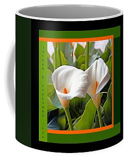 2 White Lily Flowers Coffee Mug