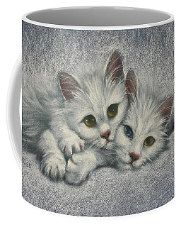 Coffee Mug featuring the painting White On White by Cynthia House