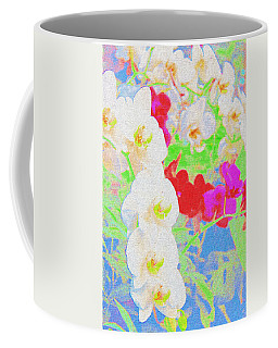 White Orchid  Coffee Mug