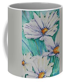 Coffee Mug featuring the painting Wild Daisys by Chrisann Ellis