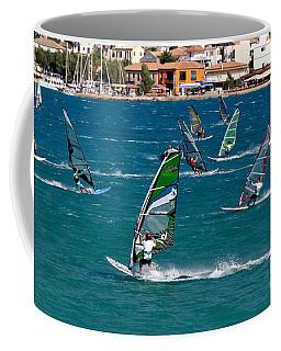 Windsurfing In Vasiliki Bay Coffee Mug