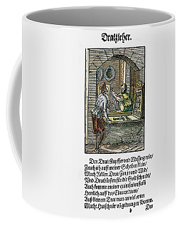 Coffee Mug featuring the drawing Wiredrawer, 1568 by Granger