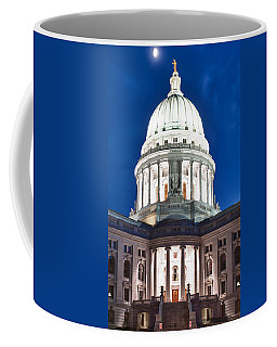Wisconsin State Capitol Building At Night Coffee Mug