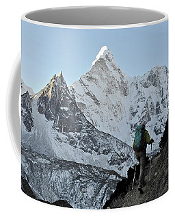 Woman Trekker In The Khumbu Region Coffee Mug