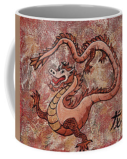 Coffee Mug featuring the painting Year Of The Dragon by Darice Machel McGuire