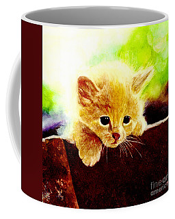 Yellow Kitten Coffee Mug