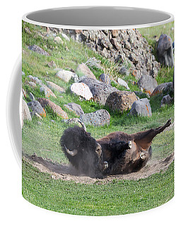 Coffee Mug featuring the photograph Yellowstone Bison by Michael Chatt