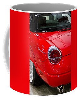 2002 Red Ford Thunderbird-rear Left Coffee Mug by Eti Reid