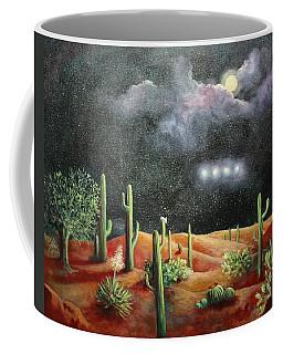 Coffee Mug featuring the painting Silence by Randol Burns