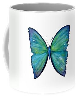 21 Blue Aega Butterfly Coffee Mug