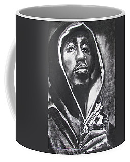 Coffee Mug featuring the drawing 2pac - Thug Life by Eric Dee