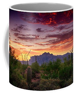 A Superstition Sunrise  Coffee Mug by Saija  Lehtonen