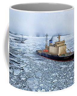 Coffee Mug featuring the photograph Arctic Sea Ocean Water Antarctica Winter Snow by Paul Fearn