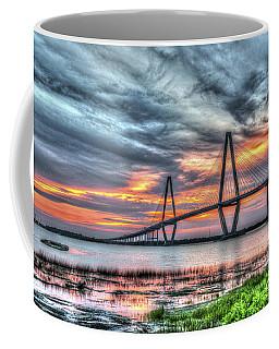 Arthur Ravenel Bridge Stormy Skies Coffee Mug