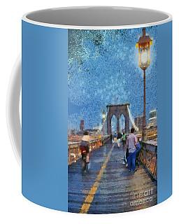 Brooklyn Bridge Promenade Coffee Mug