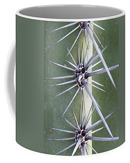 Coffee Mug featuring the photograph Cactus Thorns by Deb Halloran