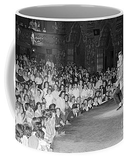 Elvis Presley In Concert At The Fox Theater Detroit 1956 Coffee Mug