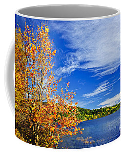 Fall Forest And Lake Coffee Mug