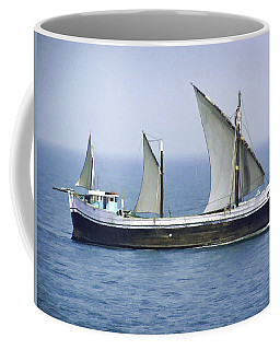 Fishing Vessel In The Arabian Sea Coffee Mug
