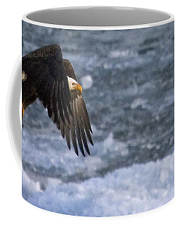 Coffee Mug featuring the photograph Flying Over Ice by J L Woody Wooden
