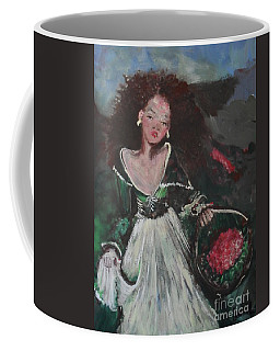 Coffee Mug featuring the painting Free by Laurie Lundquist