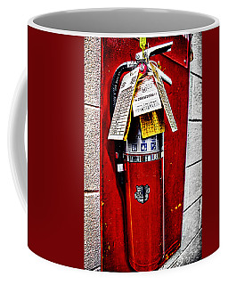 Grungy Fire Extinguisher Coffee Mug