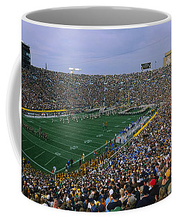 High Angle View Of A Football Stadium Coffee Mug