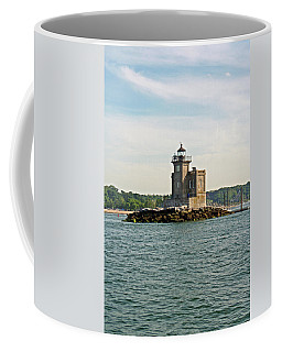 Coffee Mug featuring the photograph Huntington Lighthouse by Karen Silvestri