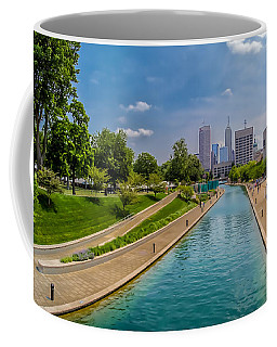 Indianapolis Skyline From The Canal Coffee Mug