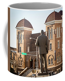 Martin Luther King Jr. And Sixteenth Street Baptist Church Coffee Mug by Tracy Brock