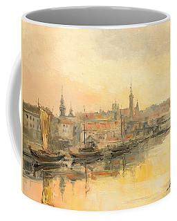 Old Warsaw - Wisla River Coffee Mug