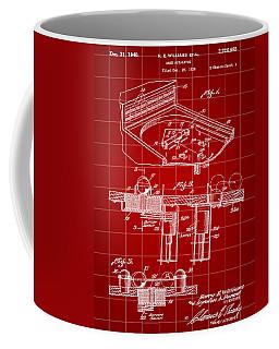 Pinball Machine Patent 1939 - Red Coffee Mug