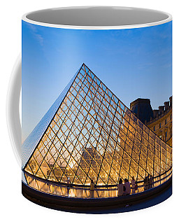 Pyramid In Front Of A Museum, Louvre Coffee Mug