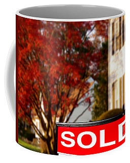 Real Estate Realtor Sold Sign And House For Sale Coffee Mug